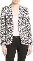 Joie Women's Mehira Leopard Print Linen Jacket