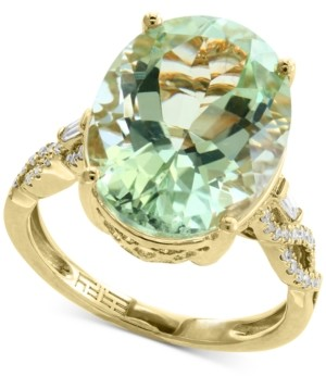Effy Green Quartz (8-3/4 ct. t.w.) & Diamond (1/5 ct. t.w.) Ring in 14k Gold