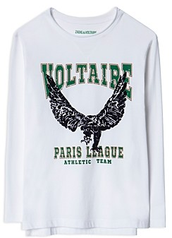 Zadig & Voltaire Boys' Kita Cotton Long Sleeve Graphic Tee - Little Kid, Big Kid