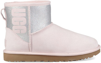 UGG Women's Classic Mini Sparkle Suede Boot