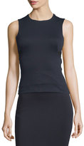 Alexander Wang High Lux Ponte Cutout Top, Navy