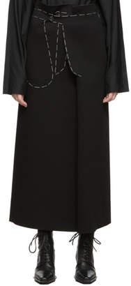 Maison Margiela Black Jersey Long Skirt