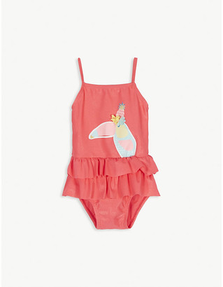 Billieblush Tropical print ruffled swimsuit 3-36 months