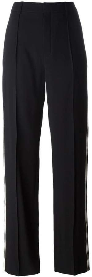 Chloé straight leg piped trousers