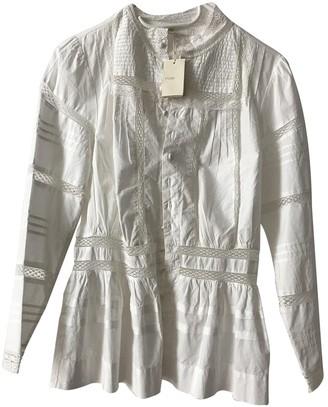 Maje White Cotton Top for Women