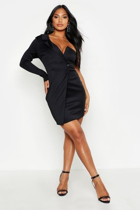 boohoo One Shoulder Blazer Bodycon Dress