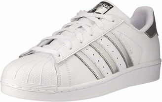 adidas Womens Superstar Basketball Shoes Multicolor (Ftwwht/Silvmt/Cblack) 5 UK