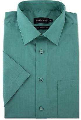Double Two Plain Short Sleeve Non-Iron Shirt