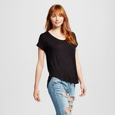 Mossimo Women's Short Sleeve Drapey Tee Juniors')