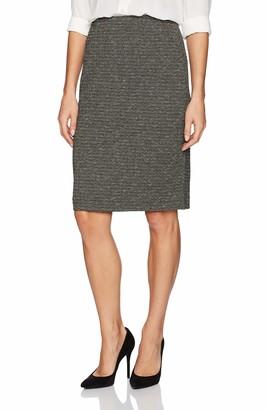 Kasper Women's Metallic Knit Slim Skirt