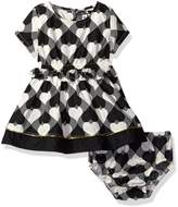 Kensie Girls' Wonderland Hearts Woven Dress