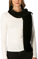 Pure Style Girlfriends Black Velvet Ribbed Scarf