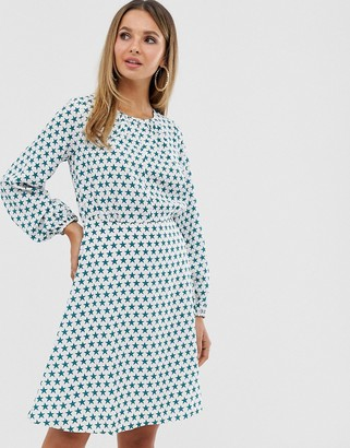 Closet London Closet split neck full sleeve dress-White
