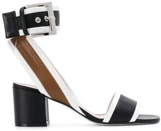 Pollini Open Toe Buckle Sandals