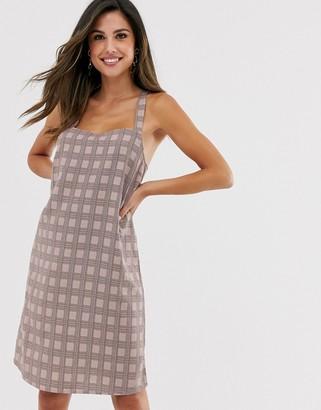 Vila check cami dress