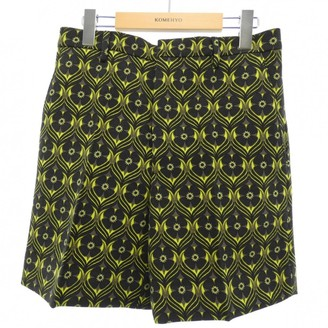 Miu Miu Green Wool Shorts for Women