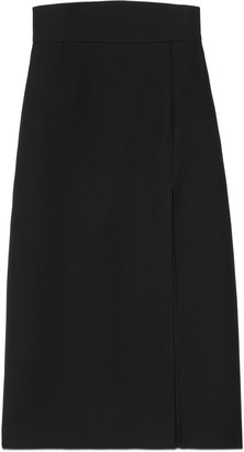 Gucci Wool silk skirt with slit