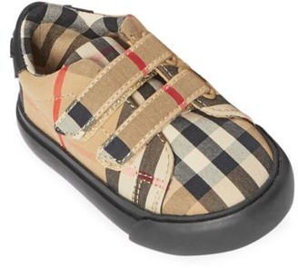 Burberry Baby's Markham Check Sneakers