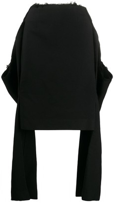 Comme des Garcons Fitted Skirt With Sleeve Features