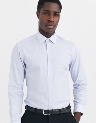 French Connection slim fit poplin shirt-Blue
