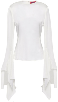 SOLACE London Reuss Draped Satin Top