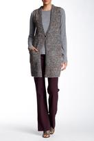 Theory Minareeya Sleeveless Wool Blend Long Cardigan
