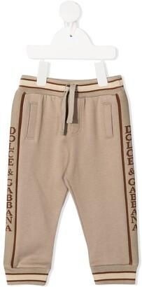 Dolce & Gabbana Kids Logo Stripe Track Pants