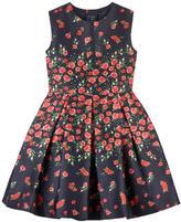 Oscar de la Renta Bedrucktes Kleid aus Seide