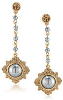 Carolee 12K Goldplated 10MM Faux Pearl Linear Drop Earrings