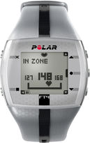 Polar FT4 Mens Heart-Rate Monitor Chronograph Silver-Tone Strap Watch