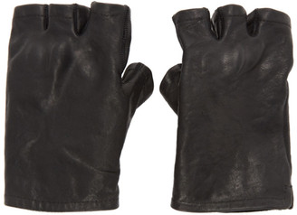 Boris Bidjan Saberi Black Fingerless Gloves