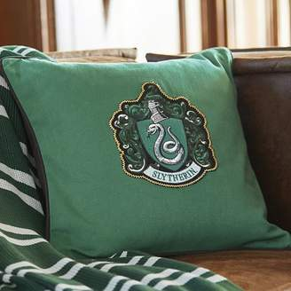 Pottery Barn Teen Harry Potter House Patch Slytherin Pillow Cover &amp Insert