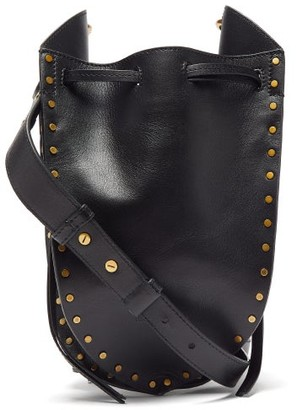 Isabel Marant Radja Studded Leather Cross-body Bag - Womens - Black