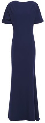 Badgley Mischka Fluted Stretch-crepe Gown