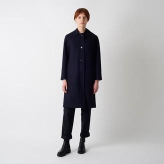 Kate Sheridan Navy Wool Louis Coat - M/L - Black