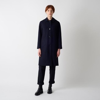 Kate Sheridan Navy Wool Louis Coat - S/M - Black