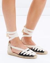 Soludos Laced Demi Wedges