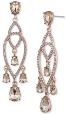 Givenchy Pave & Shaky Crystal Chandelier Earrings