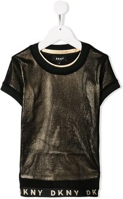 DKNY logo hem T-shirt
