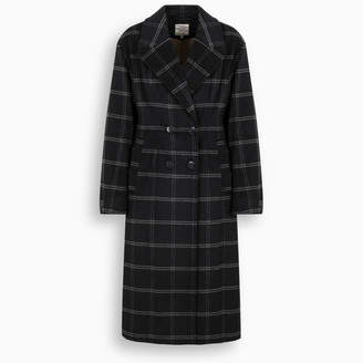 Baum und Pferdgarten Blue/grey checked Destiny coat