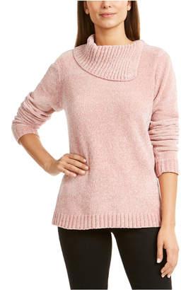 Karen Scott Petite Envelope-Neck Chenille Sweater