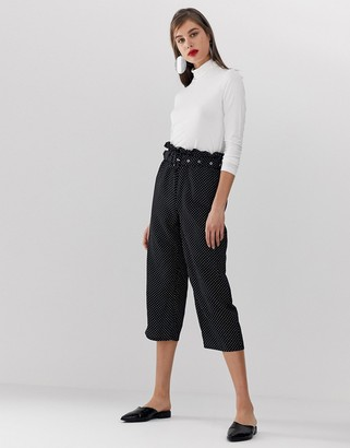 UNIQUE21 polka dot trouser with belt-Multi