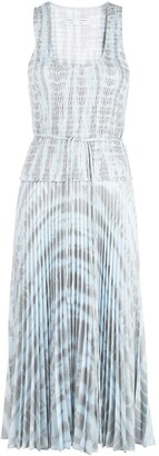 Proenza Schouler White Label Pleated Tie-Dye Dress