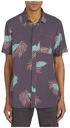 Volcom Bermuda Short Sleeve (Dark Charcoal) Men's Short Sleeve Button Up