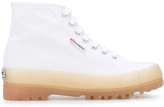 Superga High-Top Contrast-Sole Sneakers