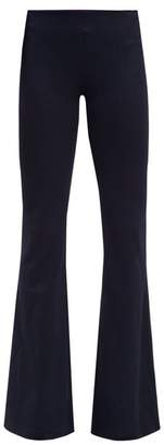 Galvan Flared-leg Jersey Trousers - Womens - Navy