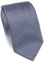 Armani Collezioni Tri-Color Woven Silk Tie