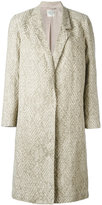 Forte Forte single-breasted jacquard coat - women - Cotton/Linen/Flax/Polyamide/Viscose - 1