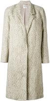 Forte Forte single-breasted jacquard coat - women - Cotton/Linen/Flax/Polyamide/Viscose - 3