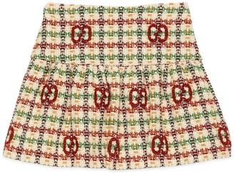 Gucci Children's GG tweed skirt